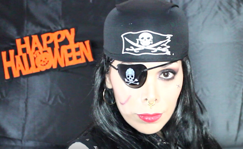 "HALLOWEEN MAKEUP TUTORIAL ""PIRATE"" 