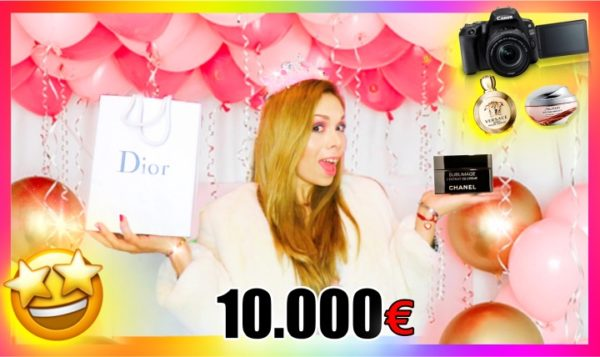 I spent more than 10,000 euros on my birthday gifts! 💸🎁